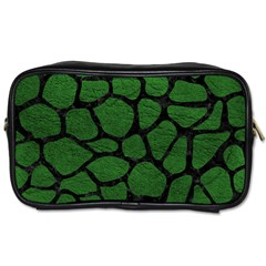 Skin1 Black Marble & Green Leather Toiletries Bags