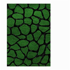 Skin1 Black Marble & Green Leather Small Garden Flag (two Sides)