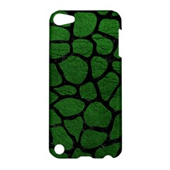Skin1 Black Marble & Green Leather Apple Ipod Touch 5 Hardshell Case