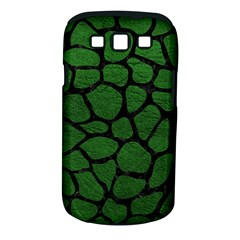 Skin1 Black Marble & Green Leather Samsung Galaxy S Iii Classic Hardshell Case (pc+silicone)