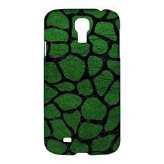 Skin1 Black Marble & Green Leather Samsung Galaxy S4 I9500/i9505 Hardshell Case
