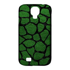 Skin1 Black Marble & Green Leather Samsung Galaxy S4 Classic Hardshell Case (pc+silicone)