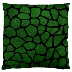 Skin1 Black Marble & Green Leather Standard Flano Cushion Case (two Sides)
