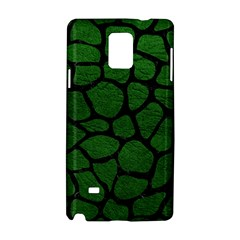 Skin1 Black Marble & Green Leather Samsung Galaxy Note 4 Hardshell Case