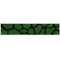 Skin1 Black Marble & Green Leather Flano Scarf (large)