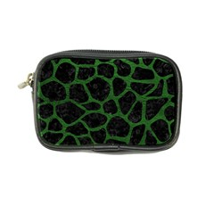 Skin1 Black Marble & Green Leather (r) Coin Purse