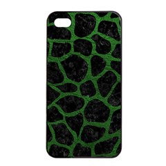 Skin1 Black Marble & Green Leather (r) Apple Iphone 4/4s Seamless Case (black)