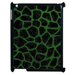 Skin1 Black Marble & Green Leather (r) Apple Ipad 2 Case (black)