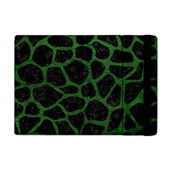 Skin1 Black Marble & Green Leather (r) Apple Ipad Mini Flip Case