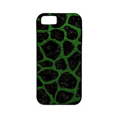 Skin1 Black Marble & Green Leather (r) Apple Iphone 5 Classic Hardshell Case (pc+silicone)