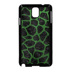 Skin1 Black Marble & Green Leather (r) Samsung Galaxy Note 3 Neo Hardshell Case (black)