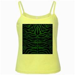 Skin2 Black Marble & Green Leather Yellow Spaghetti Tank