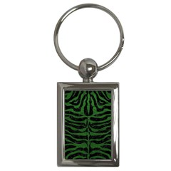 Skin2 Black Marble & Green Leather Key Chains (rectangle)