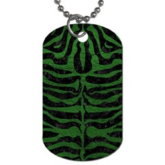 Skin2 Black Marble & Green Leather Dog Tag (one Side)