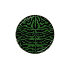 Skin2 Black Marble & Green Leather Hat Clip Ball Marker (10 Pack)