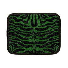 Skin2 Black Marble & Green Leather Netbook Case (small)
