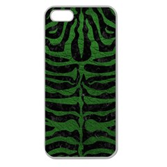 Skin2 Black Marble & Green Leather Apple Seamless Iphone 5 Case (clear)