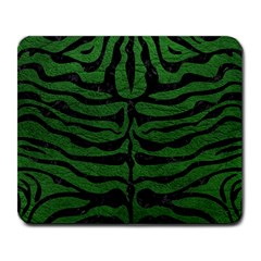 Skin2 Black Marble & Green Leather (r) Large Mousepads