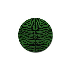 Skin2 Black Marble & Green Leather (r) Golf Ball Marker (4 Pack)