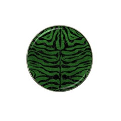 Skin2 Black Marble & Green Leather (r) Hat Clip Ball Marker (4 Pack)