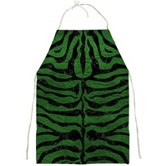 Skin2 Black Marble & Green Leather (r) Full Print Aprons