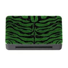 Skin2 Black Marble & Green Leather (r) Memory Card Reader With Cf