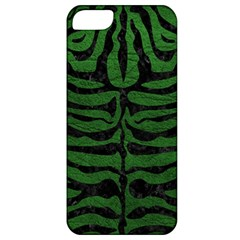 Skin2 Black Marble & Green Leather (r) Apple Iphone 5 Classic Hardshell Case