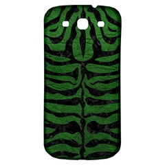 Skin2 Black Marble & Green Leather (r) Samsung Galaxy S3 S Iii Classic Hardshell Back Case