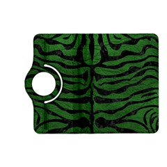 Skin2 Black Marble & Green Leather (r) Kindle Fire Hd (2013) Flip 360 Case