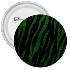 Skin3 Black Marble & Green Leather 3  Buttons