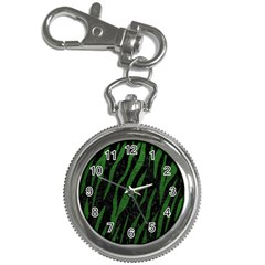 Skin3 Black Marble & Green Leather Key Chain Watches