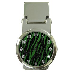 Skin3 Black Marble & Green Leather Money Clip Watches