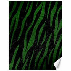 Skin3 Black Marble & Green Leather Canvas 12  X 16