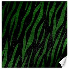 Skin3 Black Marble & Green Leather Canvas 16  X 16