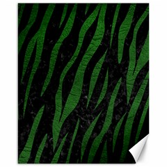 Skin3 Black Marble & Green Leather Canvas 16  X 20