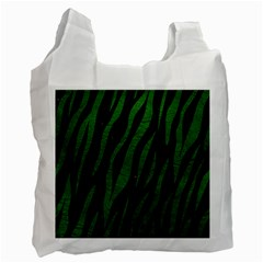 Skin3 Black Marble & Green Leather Recycle Bag (two Side)