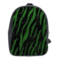 Skin3 Black Marble & Green Leather School Bag (xl)