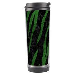 Skin3 Black Marble & Green Leather Travel Tumbler