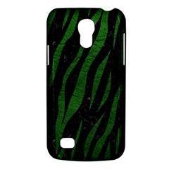 Skin3 Black Marble & Green Leather Galaxy S4 Mini