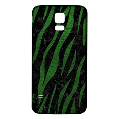 Skin3 Black Marble & Green Leather Samsung Galaxy S5 Back Case (white)