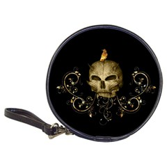 Golden Skull With Crow And Floral Elements Classic 20 Cd Wallets
