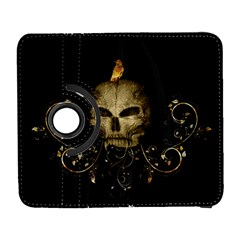 Golden Skull With Crow And Floral Elements Galaxy S3 (flip/folio)