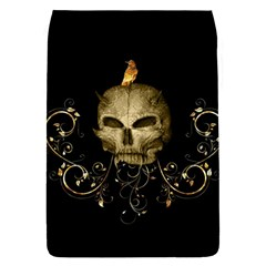 Golden Skull With Crow And Floral Elements Flap Covers (l)