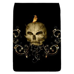 Golden Skull With Crow And Floral Elements Flap Covers (s)