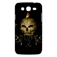 Golden Skull With Crow And Floral Elements Samsung Galaxy Mega 5 8 I9152 Hardshell Case