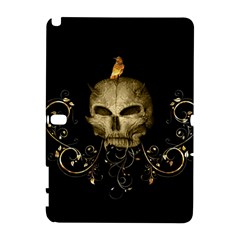 Golden Skull With Crow And Floral Elements Galaxy Note 1