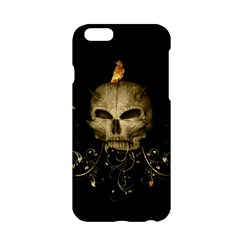 Golden Skull With Crow And Floral Elements Apple Iphone 6/6s Hardshell Case