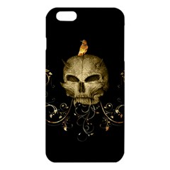 Golden Skull With Crow And Floral Elements Iphone 6 Plus/6s Plus Tpu Case