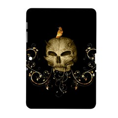Golden Skull With Crow And Floral Elements Samsung Galaxy Tab 2 (10 1 ) P5100 Hardshell Case