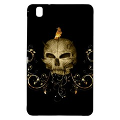 Golden Skull With Crow And Floral Elements Samsung Galaxy Tab Pro 8 4 Hardshell Case